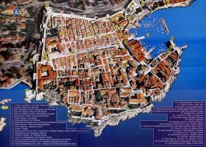 Mapa callejero de dubrovnik