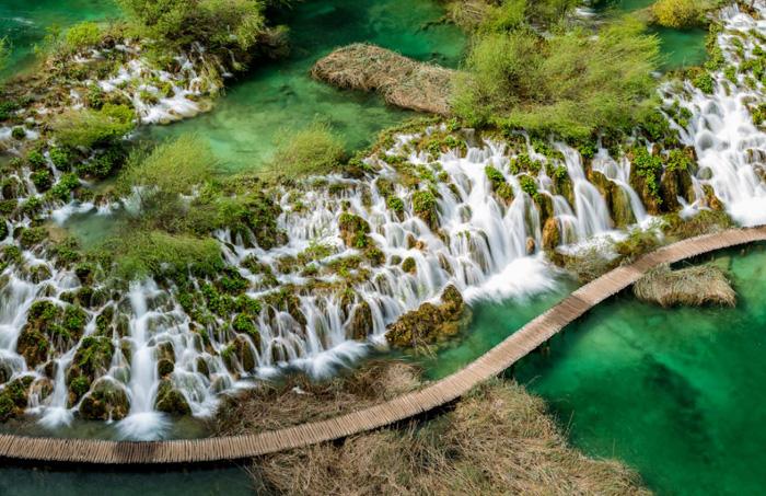 Parque de los Lagos de Plitvice en Croacia