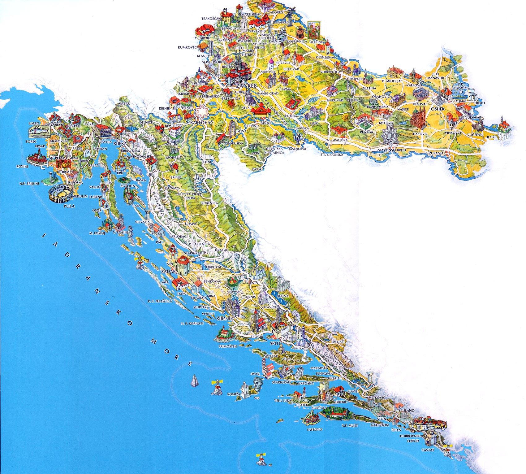 Mapa De Croacia Plano De Croacia Guia De Croacia