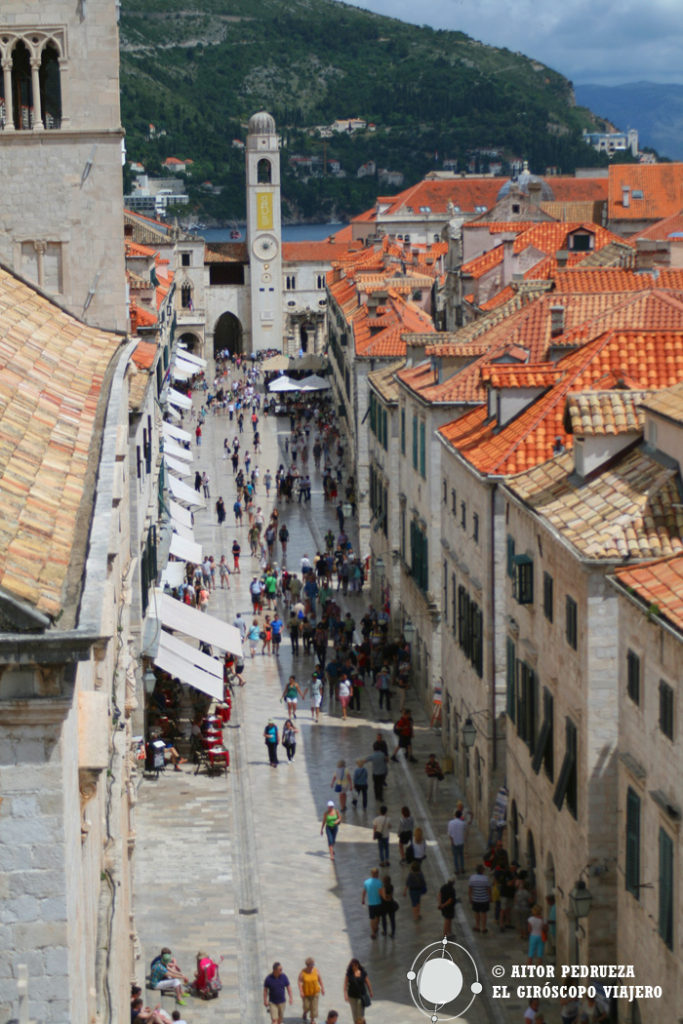 Stradun, la calle principal del centro de Dubrovnik