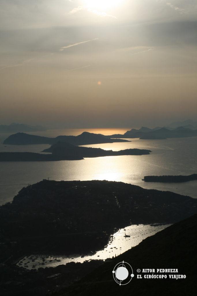 Islas Elafiti desde el cable Car en lo alto de Dubrovnik
