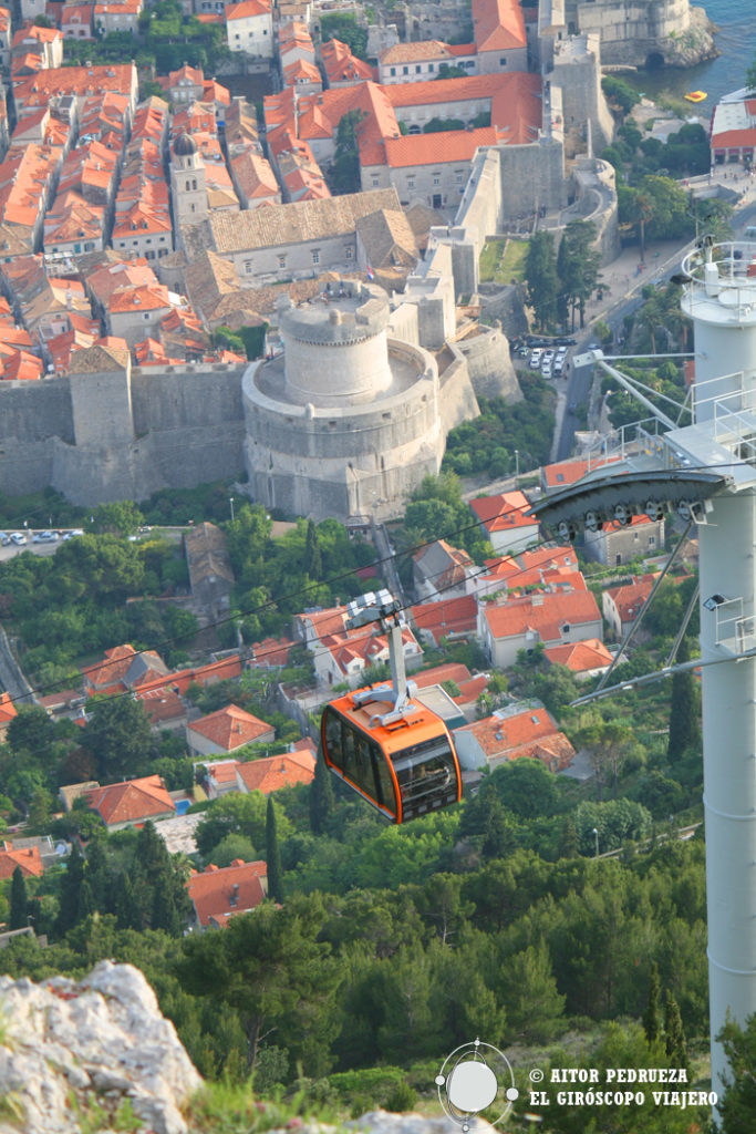 El teleférico Cable car de Dubrovnik
