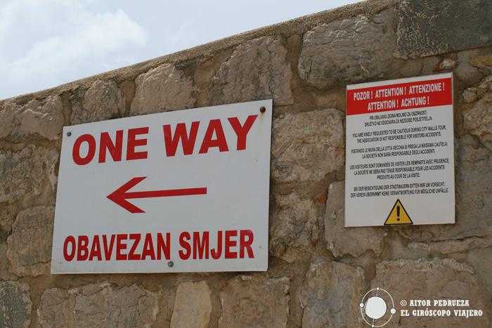 Indicaciones en la visita a las murallas