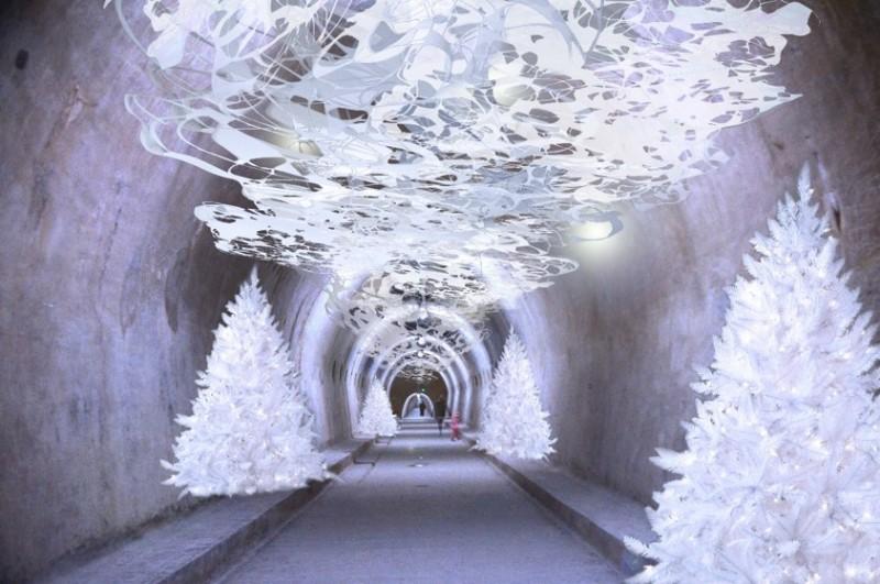 Tunel de Grič durante los mercadillos navideños